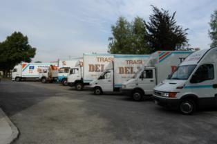 Automezzi della Del Zotto Traslochi